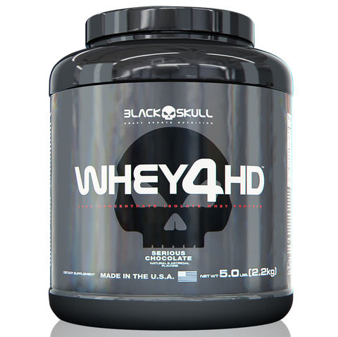 WHEY 4HD 5LB BLACK SKULL