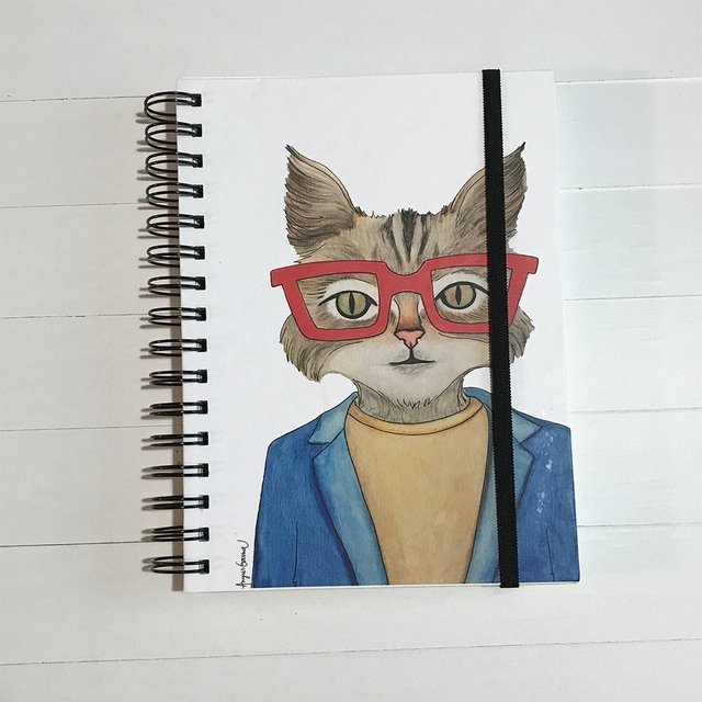 CUADERNO FIDEL- Serie Hipster Animals