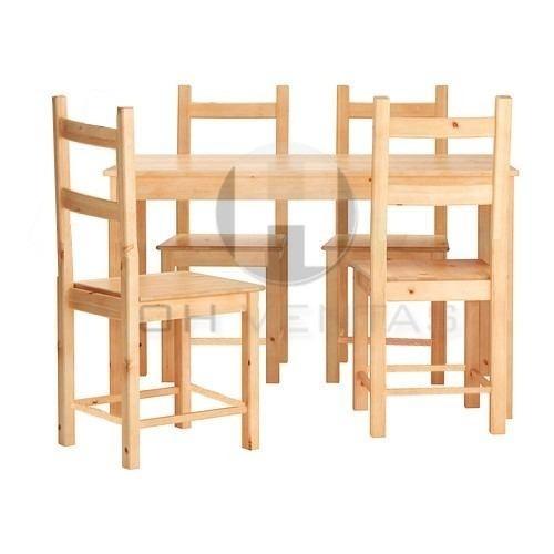 Combo oferta mesa pino 140x80 4 sillas pino ohventas for Muebles sillas oferta