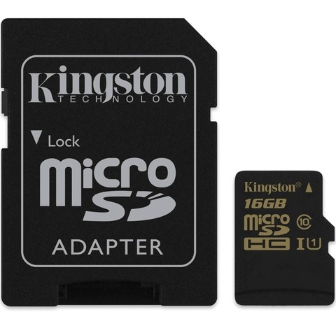 CARTAO DE MEMORIA MICRO SD 16GB KINGSTON CADAPTADOR