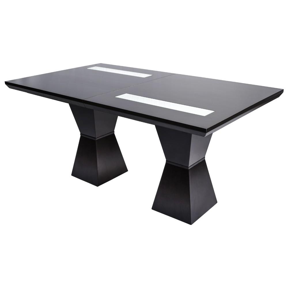 Mesa de madera de comedor extensible modelo exito for Modelos de mesas de comedor de madera