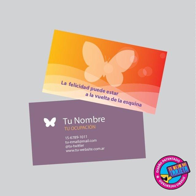 100 tarjetas personales con diseño modelo 1089