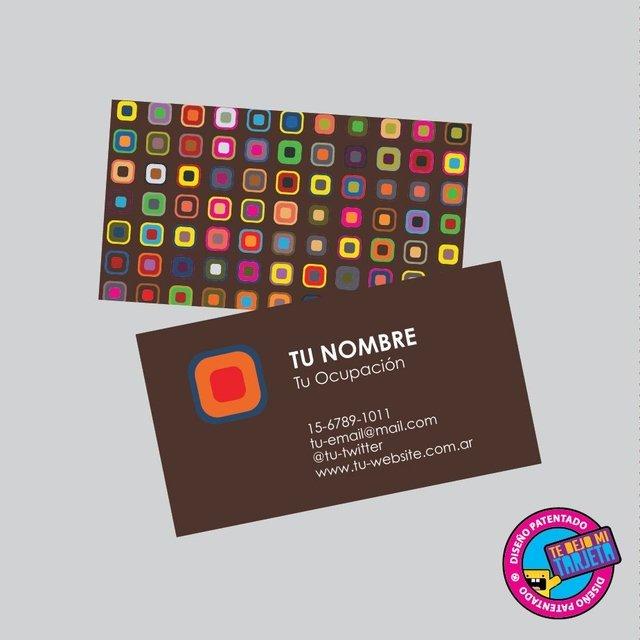100 tarjetas personales con diseño modelo 1097