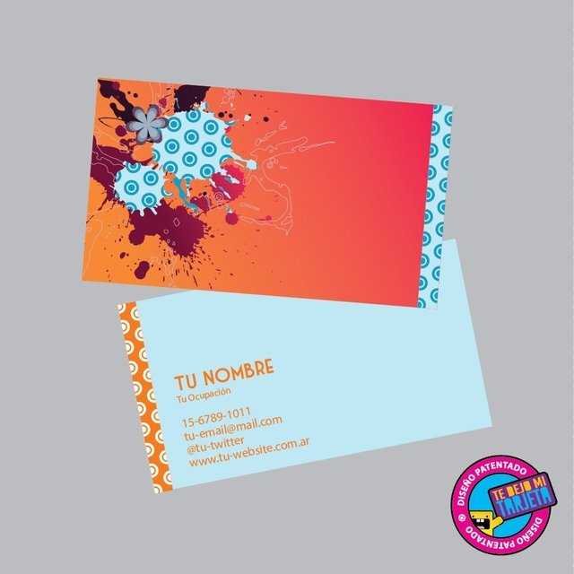 100 tarjetas personales con diseño modelo 1100