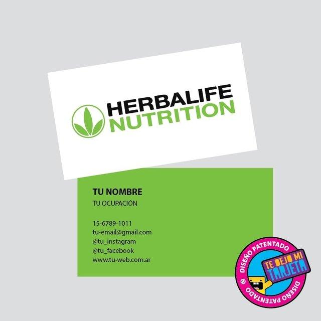 tarjetas personales con diseño herbalife modelo hbl112
