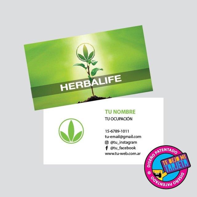 tarjetas personales con diseño herbalife modelo hbl128