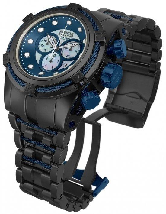 e8a72ac73ca Invicta 12737 Reserve Bolt Zeus Swiss Made Chronograph Black Blue - comprar  online ...