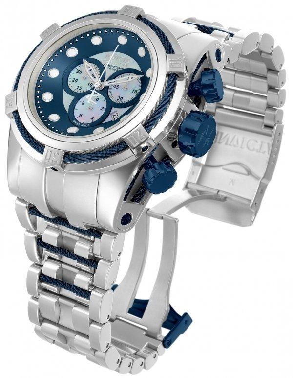 77b52594477 Invicta 12737 Reserve Bolt Zeus Swiss Made Chronograph Blue Swiss