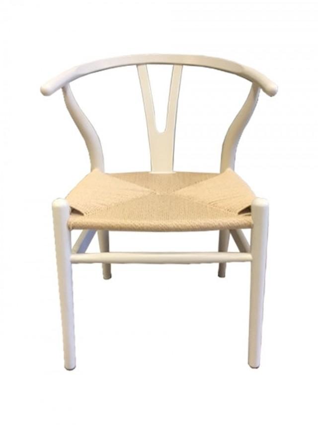 Silla wishbone madera blanca del sur design for Silla madera blanca