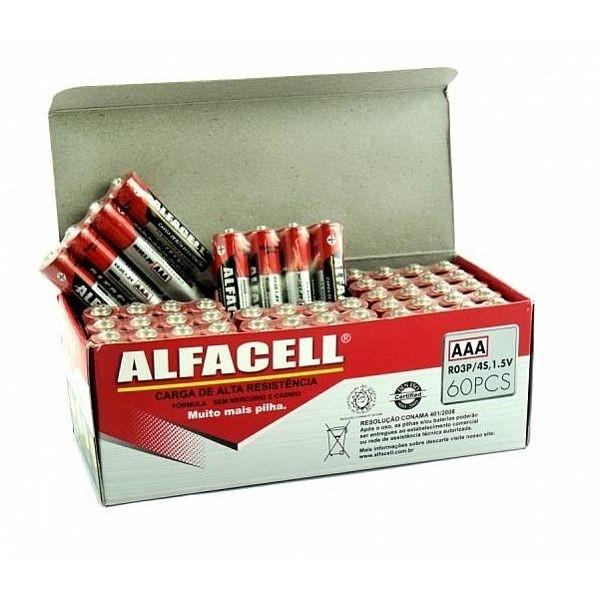 Pilha Alfacell AAA 1,5V com 04 unidades