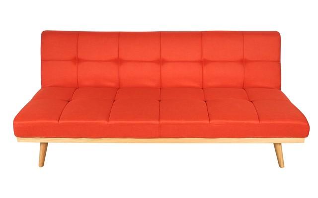 Sofa cama meet tela rojo comprar en emuebles for Sofa cama en tela