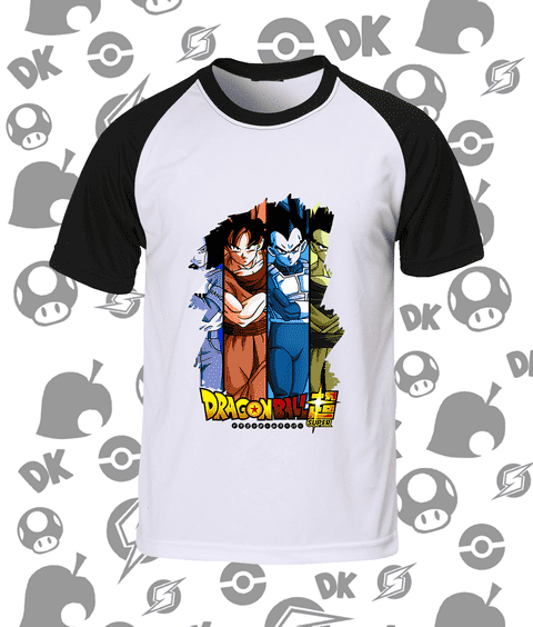 Camisa Raglan Dragon Ball Super