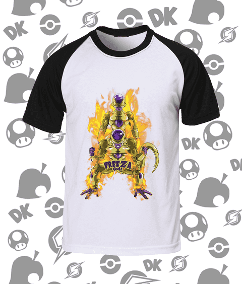 CAMISA RAGLAN GOLDEN FREEZA