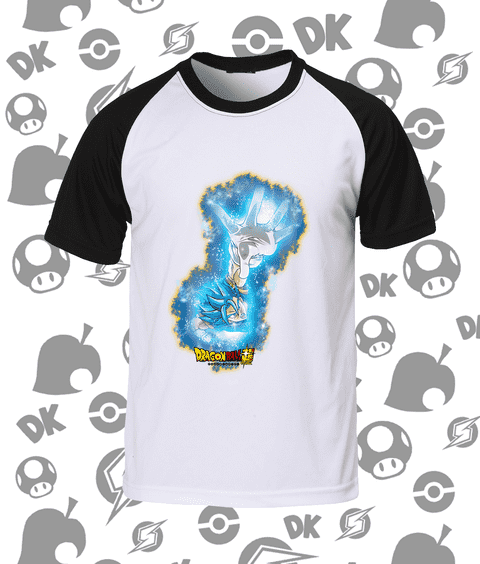 CAMISA RAGLAN VEGETTO SUPER SAYAJIN BLUE