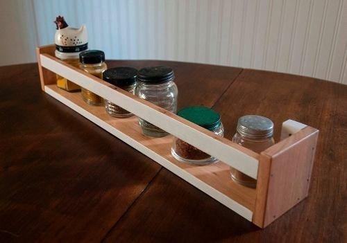Especiero estante de madera para cocina varios tama os - Madera para estantes ...