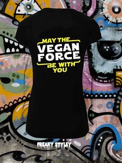 REMERA VEGAN MAY THE VEGAN FORCE BE WITH YOU - comprar online