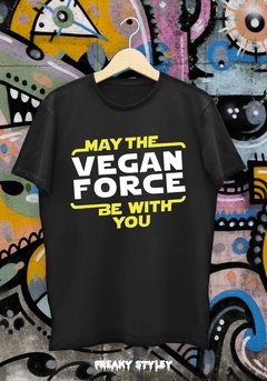 REMERA VEGAN MAY THE VEGAN FORCE BE WITH YOU