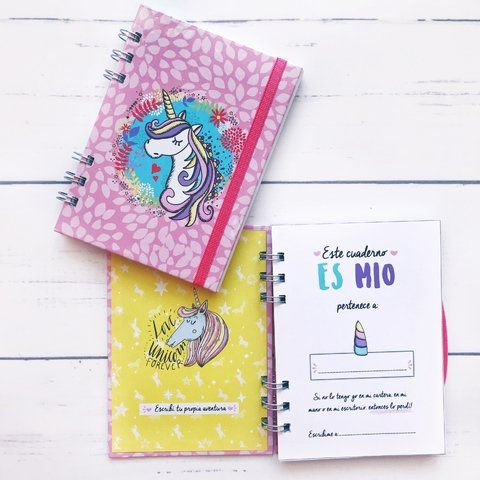 Cuaderno unicornio pink pocket en internet