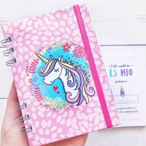Cuaderno unicornio pink pocket