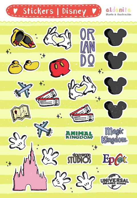 STICKERS | Plancha 15x20 cm en internet