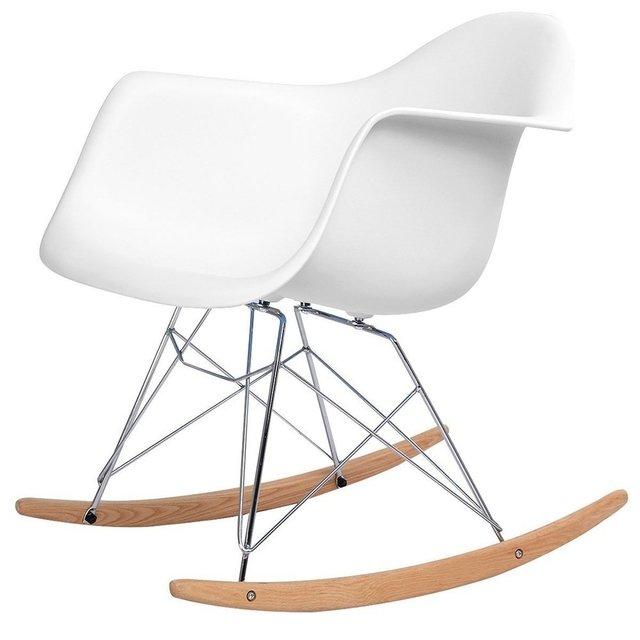 Mecedoras blancas good silla mecedora blanca de diseo - Silla mecedora ikea ...