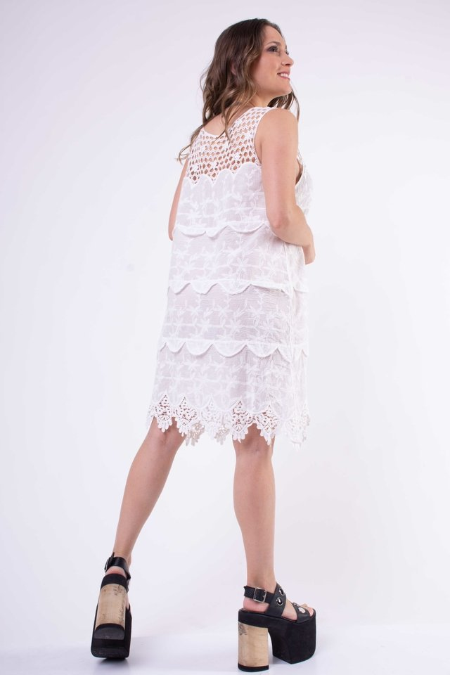 Vestido Creta con Crochet  Art:2757 - Arizona
