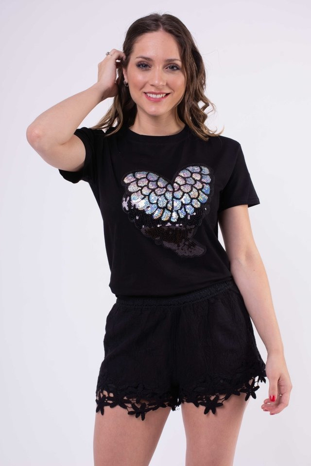 Remera Corazon Silver Art:2723