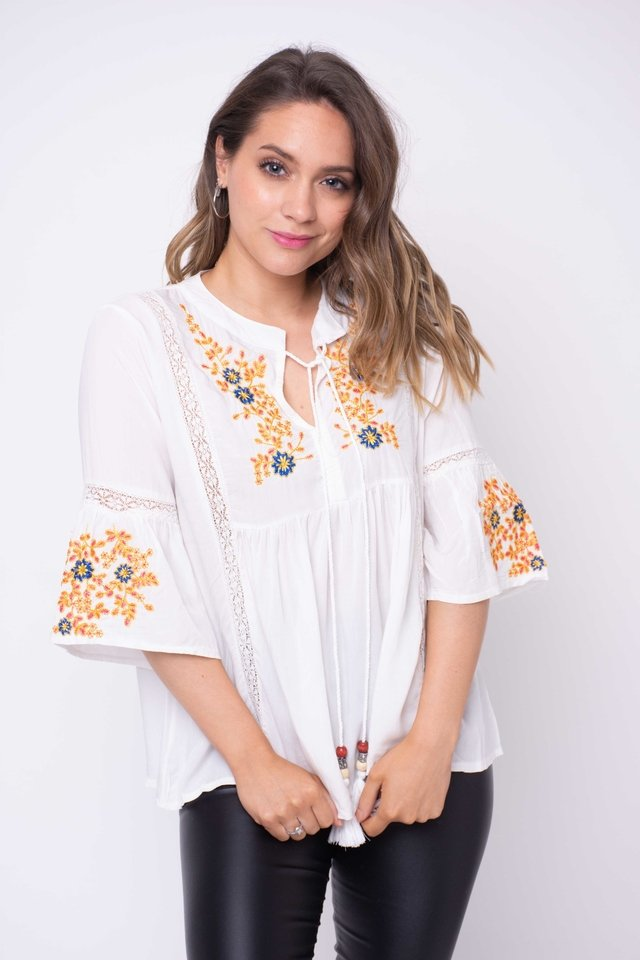 Camisola Rhapsody Yellow Bordada Art:2404