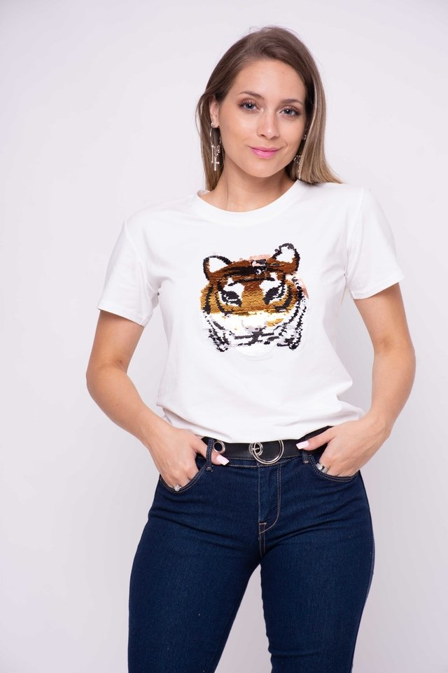 Remera Felina Tornasolado Art:3066 en internet