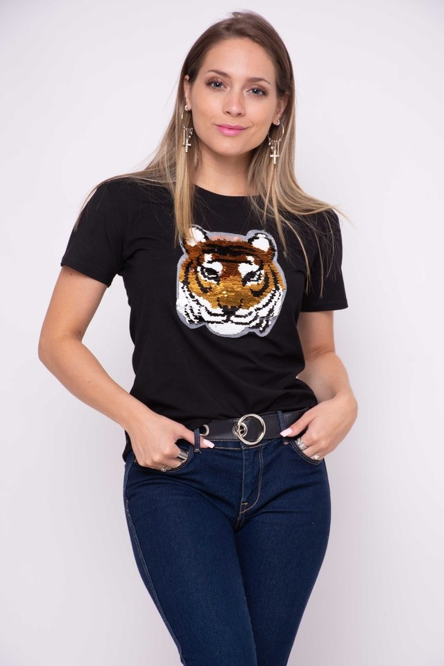 Remera Felina Tornasolado Art:3066