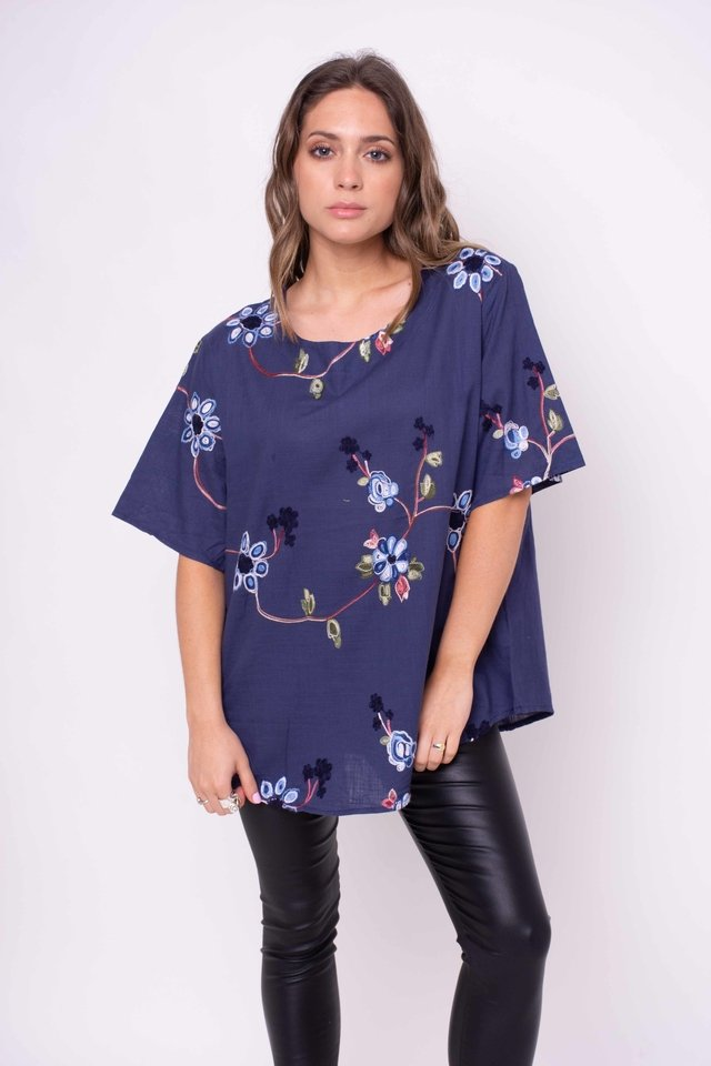 Camisola Split Bordada Art:2598