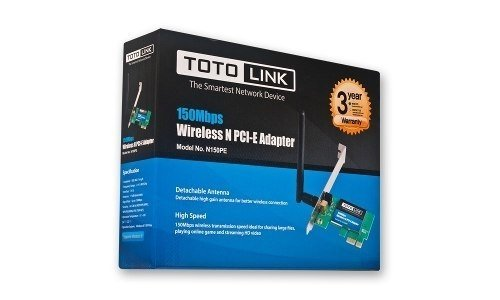 Placa Pci Express 1x Wireless Toto Link 150 Mbps Ant 2dbi en internet
