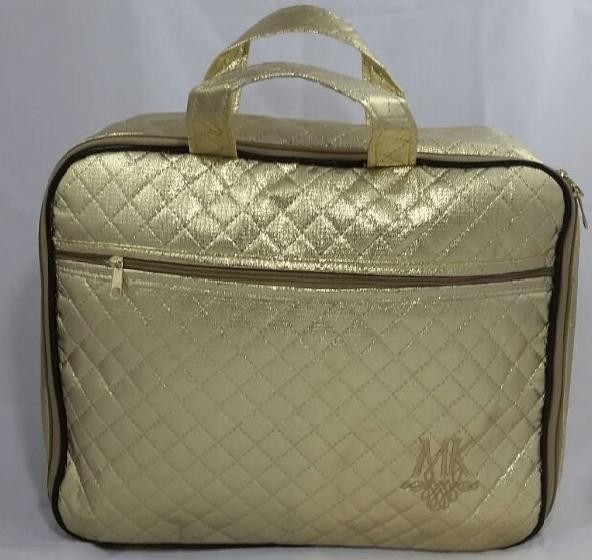 Bolsa Dourada Mary Kay : Bolsa t?rmica com necess?ria transparente