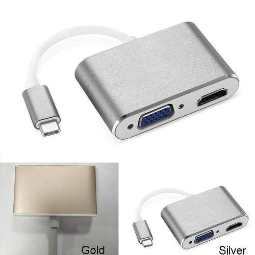 Adaptador Usb-c Hdmi Vga  Samsung Lg Macbook Nokia 4g Gb Hd en internet