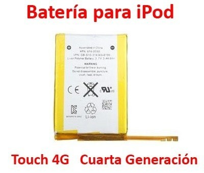 Batería Apple Ipod Touch 4g Mp3 Usb Player Original Hd Gb Sd