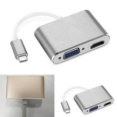 Adaptador Usb-c Hdmi Vga  Samsung Lg Macbook Nokia 4g Gb Hd