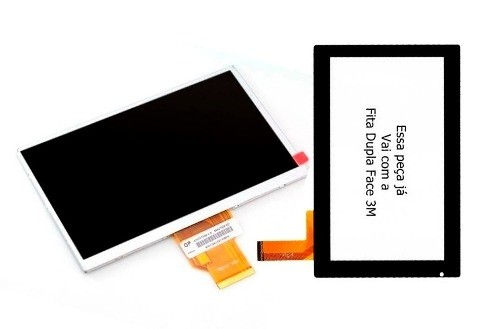 Kit Touch + Display Tela Tablet Philco 7a-b111a4.0 7b 7a