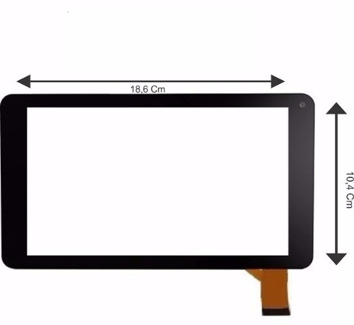 Tela Touch Screen Vidro Tablet Hyundai Hdt- 7433l Hdt 7443l