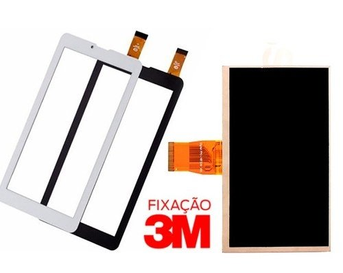 Kit Tela Touch + Display Tablet Dl  Tx254 Tx 254 3g Lt410 - Uti do Celular Franca