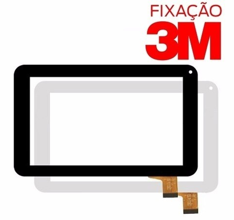 Imagem do Tela Vidro Touch Screen Lcd Tablet Dl Lcd075 86vs Lcd 075 3m