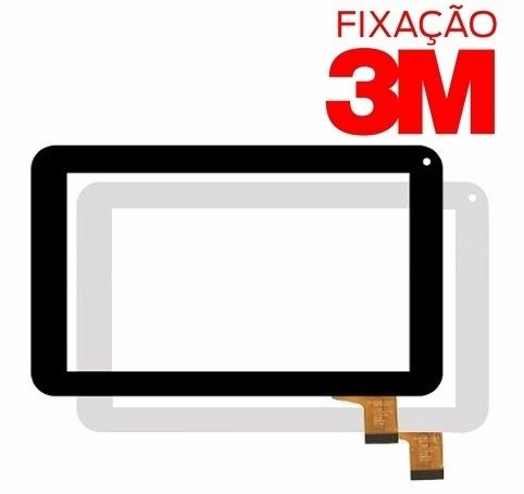 Tela Touch Tablet Dl 3503 7 Polegadas Novo + 3m