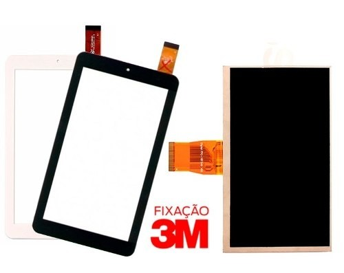 Kit Tela Touch + Display Lcd Tablet Dl X Quad Note 2 Tx308