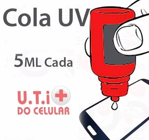 Imagem do Cola Uv Loca Para Celular Vidro Lente 5ml Iphone 4s