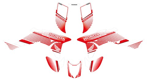 Kit Calcos completo Honda TRX 450R, graficas, ploteo