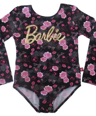 Body Infantil Barbie Preto