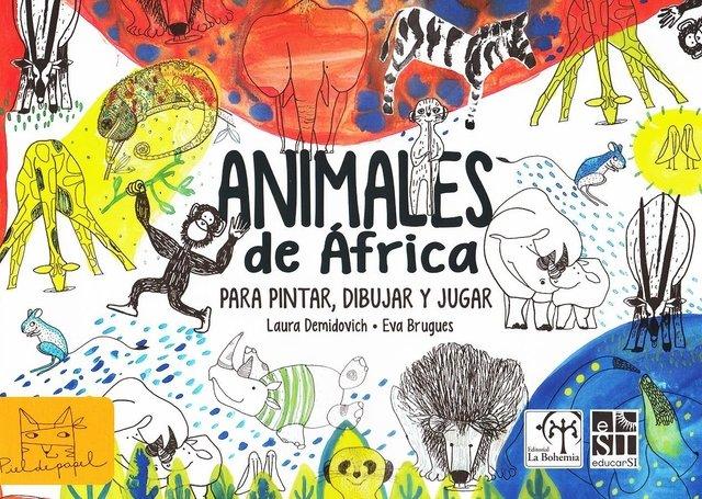 Animales de Africa para pintar, dibujar y jugar