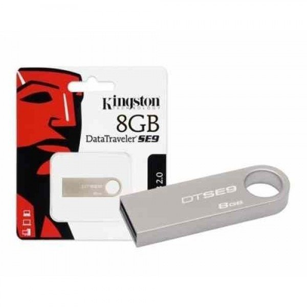 Memoria usb de 8 gigas metalica kingston