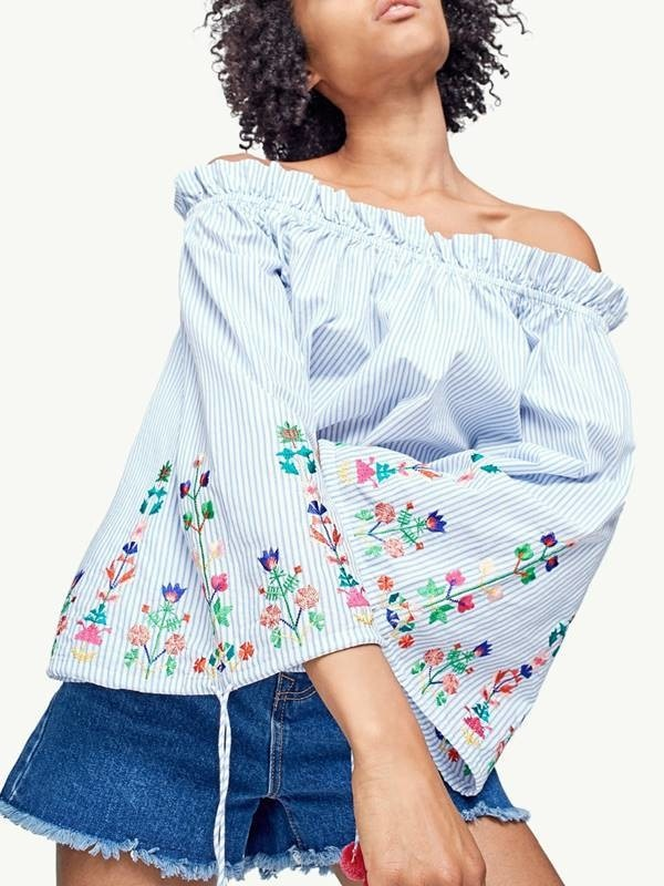 Suficiente Blusa Ciganinha Bordado Floral | Studio62 Store CD48