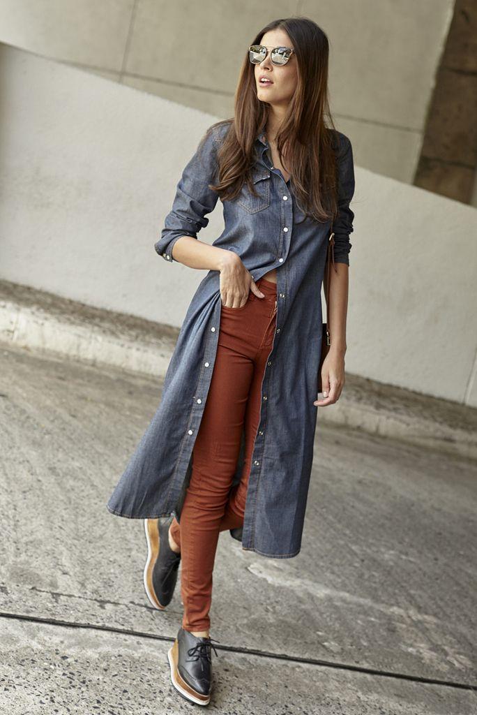 Camisa Longa Jeans
