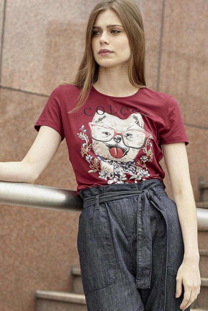 Camiseta Estampa Gato
